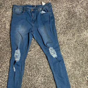 Boohoo medium wash jeans